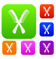 combs set collection vector image