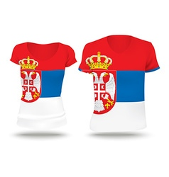 Flag shirt design of Serbia vector image