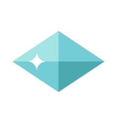 Flat design of Blue gemstone vector image