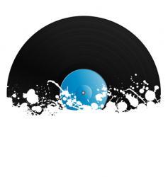 splatter retro vinyl design element vector image
