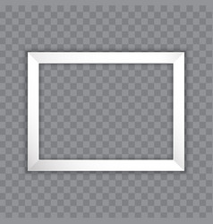 white picture frame design for image or text vector image
