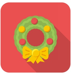 Christmas wreath icon vector image vector image