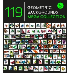 Collection of geometric shape backgrounds vector