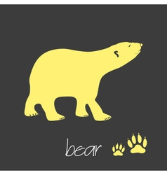 polar bear animal symbol simple banner eps10 vector image vector image