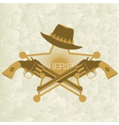 Sheriffs badge-2 vector image