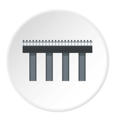 Steel bridge icon flat style vector
