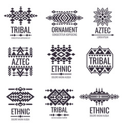 tribal aztec pattern indian graphics for vector image vector image