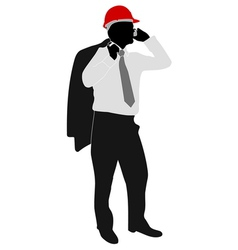 Businessman with hardhat vector