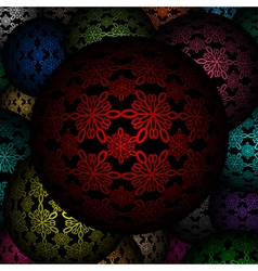 Decorative balls as background vector image vector image