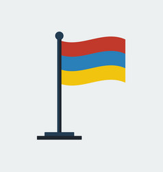 flag of armenia flag stand vector image vector image