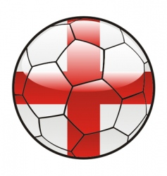 flag of England on soccer ball vector image vector image