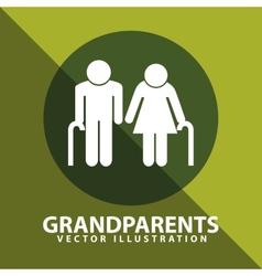 grandparents silhouettes vector image