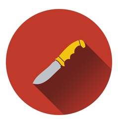 Icon of hunting knife ui colors vector