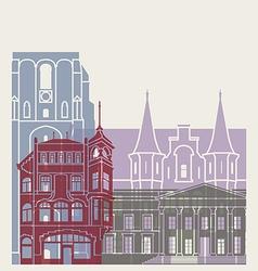 Leeuwarden skyline poster vector image vector image