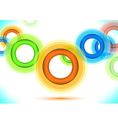 Multicolor background - colorful rings vector image vector image