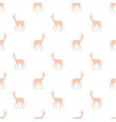 seamless pattern with colorful antelope vector image