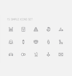 Set of 15 editable folks outline icons includes vector