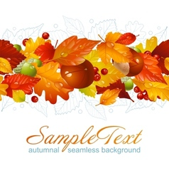 autumnal seamless horizontal background vector image vector image