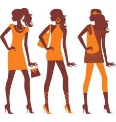 fashion model silhouettes vector image