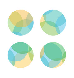 set of colorful abstract layered round shapes vector image vector image