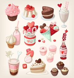 valentine food vector image
