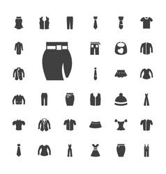 33 apparel icons vector