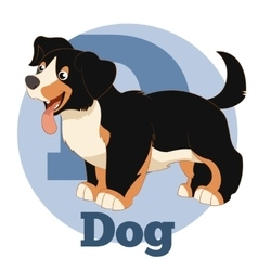 ABC Cartoon Dog2 vector image