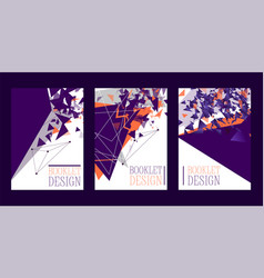 abstract booklet design poster banner card vector image