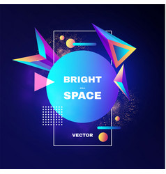 Abstract geometric background colorful motiom 3d vector