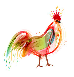 abstract rooster abstract vector image