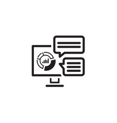 analytics system icon flat design vector image