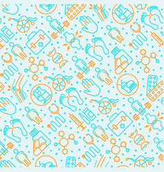 Arthritis seamless pattern with thin line icons vector