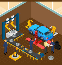 Automobile tyre service composition vector