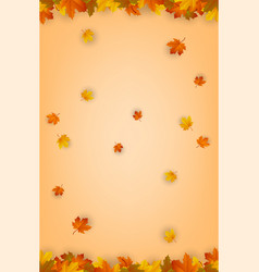 Autumn background with falling leaves red yellow vector