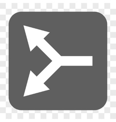 Bifurcation Arrow Left Rounded Square Button vector