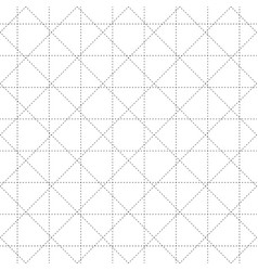 Black dash square and diamond seamless on white vector
