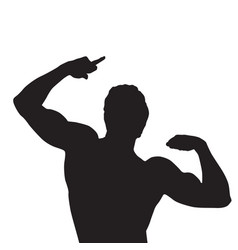 black silhouette man vector image