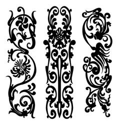 black silhouette pattern vector image