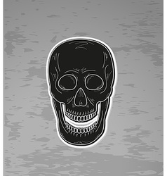 Black skull with open mouth vector