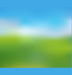 blurred nature landscape of sunny summer day vector image