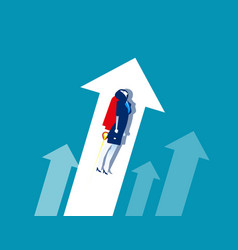 businesswoman growth workers concept business vector image