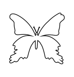Butterfly silhouette isolated icon design vector