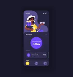 Cashback application smartphone interface vector