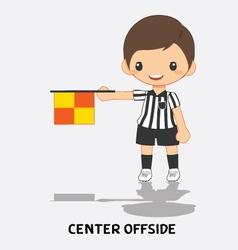 center offside flag signals vector image