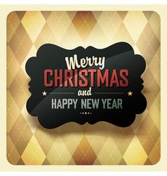 Christmas retro design card vector