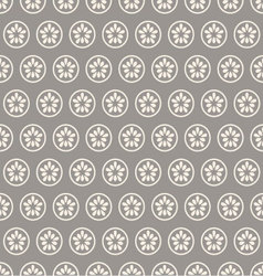 Circle with a gray flower vector