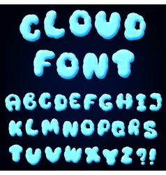 cloud alphabet for design vector image