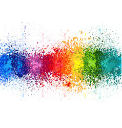 color paint splashes banner vector image