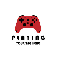 Controller games logo design vector