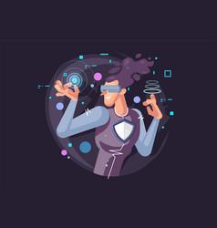 creative virtual reality vector image